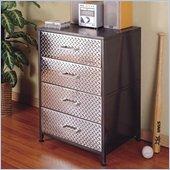 Powell Furniture Monster Bedroom 4 Drawer Chest in Gray and Silver Finish