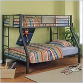 Powell Furniture Monster Bedroom Twin Over Full Metal Bunk Bed In Green Finish