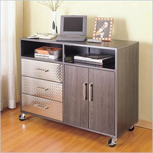  Powell Furniture Monster Bedroom Mobile Storage Unit 