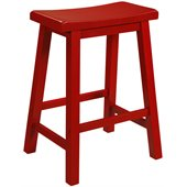 Powell Furniture Color Story Crimson Red Counter Stool