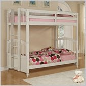 Powell May Twin over Twin Bunk Bed in Pure White Finish