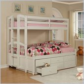 Powell May Twin over Full Bunk Bed in Pure White Finish