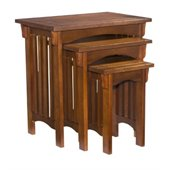 Powell Furniture Mission Oak 3-Piece Nested Tables