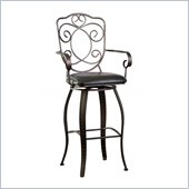 Powell Furniture Bronze with Muted Copper Scroll Back Bar Stool