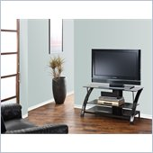 Powell Furniture Gloss Black TV Stand