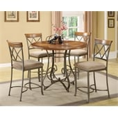 Powell Furniture Hamilton 5 Dining Piece Set in Brushed Medium Cherry