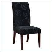Powell Furniture Velvet Tone-on-Tone Floral Black Slip Over