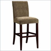 Powell Brown & Tan Check Chenille Slip Over for Counter or Bar Stools