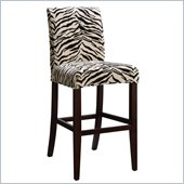 Powell White & Onyx Striped Slip Over for Counter or Bar Stools