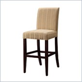 Powell Woven Taupe Stripes Slip Over for Counter or Bar Stools