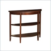 Powell Furniture Shelburne Cherry Demi-lune Console Table