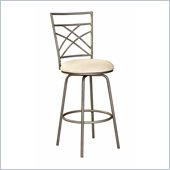 Powell Furniture Antique Gold Accented Pewter Bar Stool
