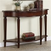 Powell Furniture Masterpiece Console Table with 4 Reeded Legs