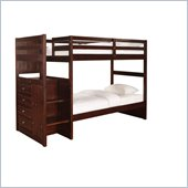 Powell Furniture Ranch Cappuccino Chest End Step Twin Bunk Bed