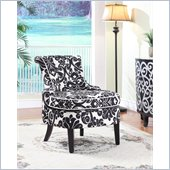 Powell Diana Swoop Back Accent Chair in Black Wood