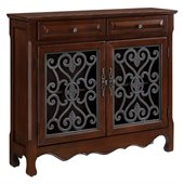 Powell Drawer Scroll Console in Light Cherry