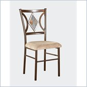 Powell Presley Dining Side Chair in Copper Metal and Cherry Wood