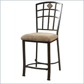 Powell Jefferson Counter Stool in Chocolate Bronze Crackle