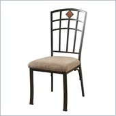 Powell Jefferson Dining Side Chair in Chocolate Bronze Crackle