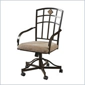 Powell Jefferson Castered Arm Chair in Chocolate Bronze Crackle