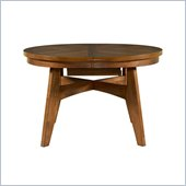 Powell Tiburon Round to Oval Dining Table in American Walnut