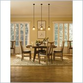 Powell Tiburon Dining Set in American Walnut