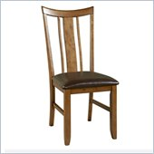 Powell Tiburon Dining Side Chair in American Walnut and Brown