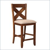 Powell Kraven Counter Stool in Dark Hazelnut