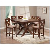 Powell Kraven Gathering Table in Dark Hazelnut