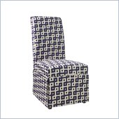 Powell Slip Over Slipcover in Navy and Cream