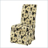 Powell Slip Over Slipcover in Black Peppercorn Floral