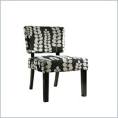 Powell Accent Chair in Dark Brown