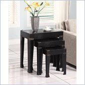 Powell Nested Tables in Black Crocodile