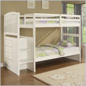 Powell Angelica Chest End Step Twin/Twin Bunk Bed in White