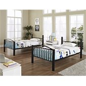 Powell Heavy Metal Twin Over Twin Bunk Bed in Black