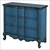 Powell Accents Scalloped 2-Door Chest in Blue