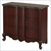 Powell Accents Scalloped 2-Door Chest in Red