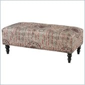 Powell Classic Seating Rectangular Ottoman in Black