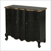 Powell Accents 2-Door Scalloped Chest in Black