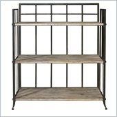 Powell Driftwood Iron 3-Shelf Open Display Unit