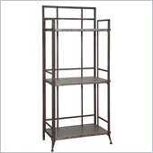 Powell Foundry 3-Shelf Tall Bookcase in Antique Pewter