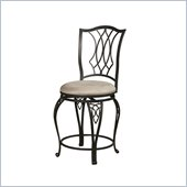 Powell Big and Tall Diamond Top Counter Stool in Bronze