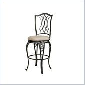 Powell Big and Tall Diamond Top Bar Stool in Bronze