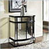 Powell Furniture Mirrored 2 Door 1 Drawer Console