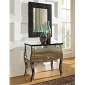 Powell Furniture Mirrored 2 Drawer Console