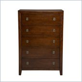 Powell Furniture New Albany 5 Drawer Chest in Antique Walnut