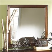 Powell Furniture New Albany Mirror in Antique Walnut