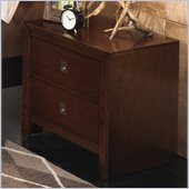 Powell Furniture New Albany 2-Drawer Nightstand in Antique Walnut