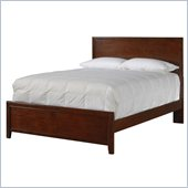 Powell Furniture New Albany Panel Bed in Antique Walnut