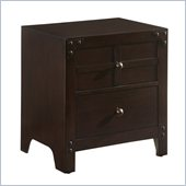 Powell Furniture Summerfield 2 Drawer Nightstand  in Dark Walnut